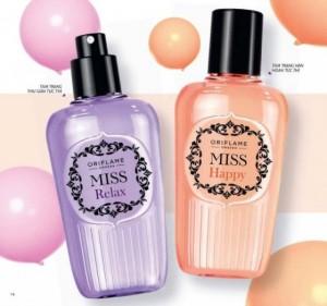 Nước hoa Miss Happy Fragrance Mist và Miss Relax Fragrance Mist