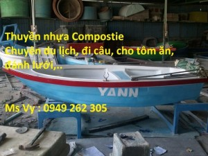 Thuyền composite 3.6M trở 4-6 người đi