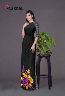 Vải áo dài hoa đẹp với hoa văn nguyên quần hoặc quần trơn của Vải Áo Dài Kim Ngọc