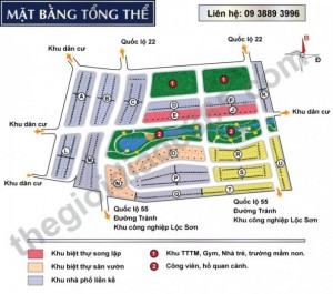 Bán đất nền Khu đô thị mới Lộc Sơn – Bảo Lộc. Giá 4-5 triệu/m2
