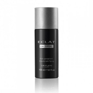 Eclat Homme Anti-perspirant Deodorant Spray Chai xịt khử mùi cơ thể mang hương thơm nam tính của nước hoa Eclat Homme. 150ml