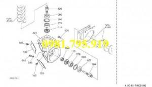 Trục hình côn dọc Kubota 5T051-6729,
