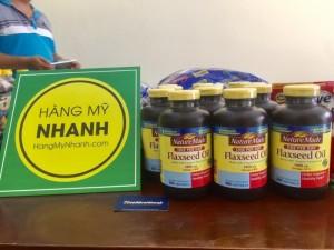 Tác Dụng Thần Kỳ Của Dầu hạt lanh MỸ Nature Made Flaxseed oil, 1 Chai 300 viên, ngăn ngừa nguy cơ bệnh tim, ung thư và tiểu đường - MSN181184