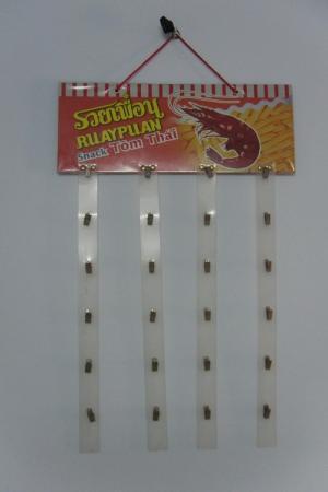 Hanger giấy-dây nhựa kẹp sắt