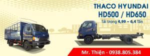 Xe tải Thaco HD500, HD650 5T và 6T4