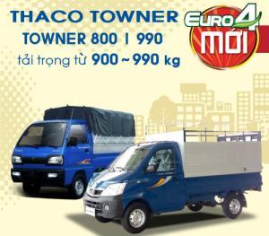 Xe tải Thaco Towner800, Towner990 tải trọng 800kg,990kg động cơ công nghệ Suzuki