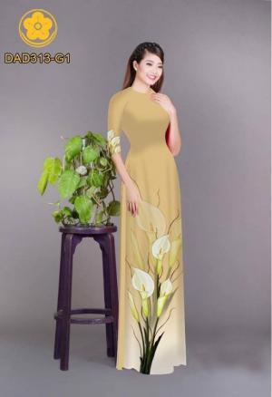 Vải áo dài hoa loa kèn