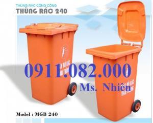 Thùng rác 120l, 240l nhập khẩu giá rẻ Vĩnh Long