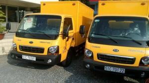 Xe KIA0190 tải trọng 1.9 tấn chạy trong thành phố