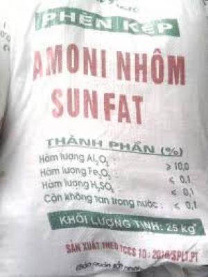 Phèn kép Nhôm Sunphate (NH4)2SO4.Al2(SO4)3.24H2O)