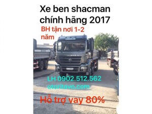 Xe ben shacman 2017 đã có mặt ở bình phước