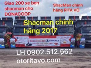 Xe ben shacman chính hãng 2017 bán về long an