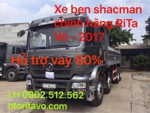 Giao xe ben shacman chính hãng 2017 về đà lạt lâm đồng