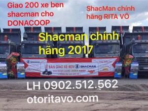 Chú ý xe ben shacman chính hãng 2017 đã về tới đồng nai