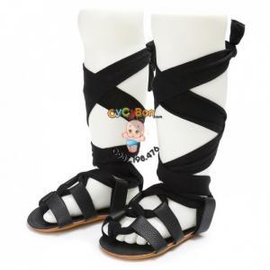 Giày Sandal Chiến Binh Cho Bé Tập Đi Màu Đen