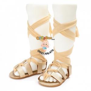 Giày Sandal Chiến Binh Cho Bé Tập Đi Màu Vàng...