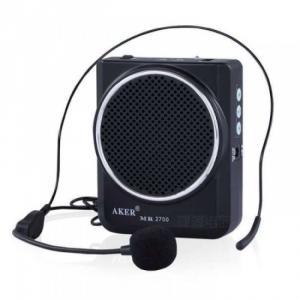 Máy trợ giảng - Thiết bị âm thanh trợ giảng Aker MR2700 Thông số kỹ thuật Máy trợ giảng aker ak2700 Màu sắc: Đen, Trắng và đỏ Công suất: 10W Công suất tổng loa: 16W Tần số sử dụng: 100HZ~13000HZ±1db Cường độ :150mA Cap vào : Cable microphone (-20dB 600) Điện thế Pin: DC 7.5, lithium batteries Kích thước : 105*84*35mm Trọng  Lượng: 314 g i.e. 0.692 lbs Độ ồn : -53dBV/Pa± Hình ảnh: Có 2 màu sắc Đen và Đỏ để bạn lựa chọn