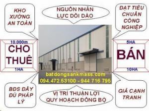 Bán/ chuyển nhượng đất công nghiệp tại khu vực Hưng Yên, 1ha - 2ha