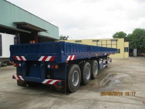 Sơ mi rơ móc sàn bửng lửng 40' 3 trục 12 gù (chở hàng và container)