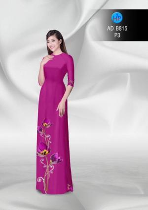 Vải áo dài hoa đẹp