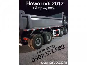 Giao xe ben howo 2017 về long an