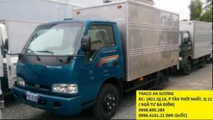 Xe tải thaco kia k165 tải trọng 2,3 tấn vào thành phố, sản phẩm với độ bền cao liên hệ ngay để đc hổ trợ.