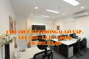 Cho thuê văn phòng Đường số 20, P.5, Q.Gò Vấp, giá 2,8 - 3,3 triệu