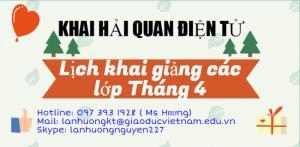 Khai Giảng liên tục hàng tháng tại Hà Nội, Bắc Ninh, HCM