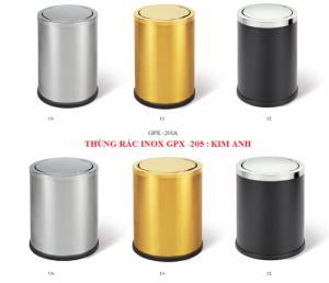 Thùng rác inox nắp lật, nắp bập bênh GPX-205A 12 giá rẻ bất ngờ nhất Hà Nội