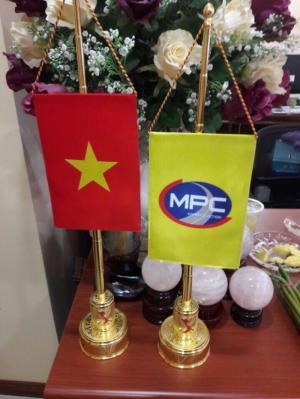 Cột cờ mạ vàng 24k quà tặng cao  cấp