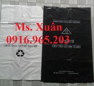 túi đựng rác thải y tế tại bệnh viện vàng, xanh, trắng, đen