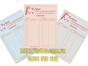 In hóa đơn, phiếu thu - chi, order, giấy cacbon giá rẻ nhất Hà Nội
