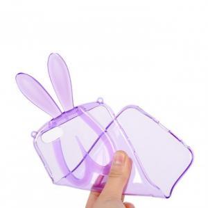 Ốp lưng Tai thỏ đáng yêu kiêm giá đỡ iPhone 5 5S case Tặng dây đeo