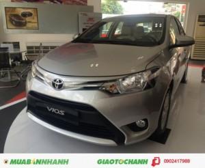Cần bán xe Toyota Vios 1.5E, số sàn, Màu Bạc, giao xe ngay, Khuyến mãi đến 50 triệu