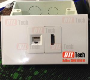 Bộ Outlet HDMI+LAN Âm Tường Giảm Giá Sốc