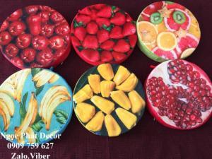 Gối trái cây 3D, nệm ngồi trái cây 3D