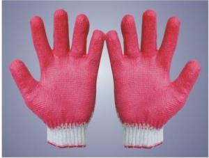 Găng tay đỏ một mặt