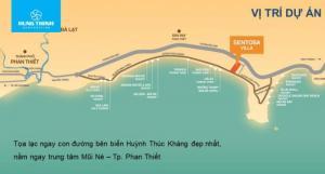 Biệt thự Sentosa Villa Mũi Né view biển 300m2 đường Huỳnh Phúc Kháng, Phan Thiết chỉ 4,4tr/m2