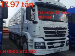Xe tải 4 chân shacman giao về trà vinh