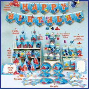 Bộ phụ kiện sinh nhật chủ đề đại dương
