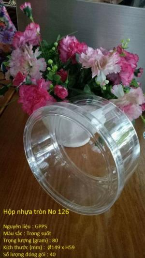 Hộp nhựa tròn No 126