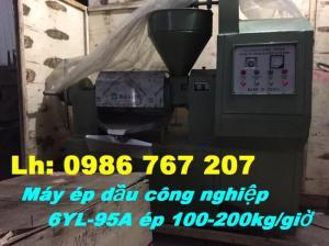 Máy ép dầu thực vật 6YL-95CA, máy ép dầu công nghiệp ép 100-200kg/giờ giá rẻ nhất