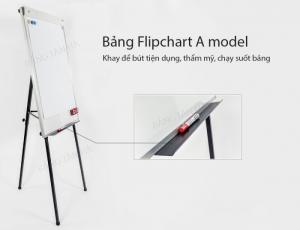 Bảng Flipchart 3 chân rút Tân Hà Kích thước 70x100cm, Bảng kẹp giấy Flipchart