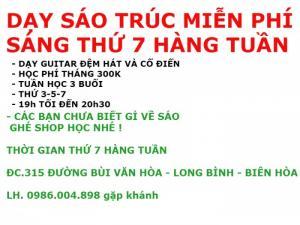 Dạy Sáo Trúc Miễn Phí ở Tại Biên Hòa Đồng...