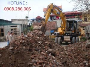 Dịch vụ Đào móng nhà giá rẻ - Thu mua xác nhà cũ - Phá dỡ công trình - San lấp mặt bằng