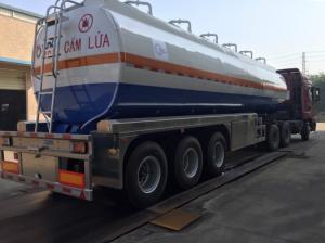 Moóc téc xăng dầu 40 m3 giá rẻ tại Hà Nội có thể giao xe ngay