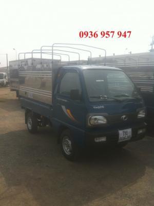 Bán xe tải Towner800A thùng mui bạt vách inox, động cơ Euro 4