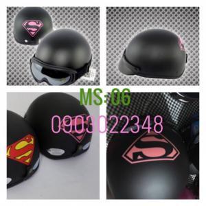Nón 1/2 đầu đi phượt thời trang MS6 superman...