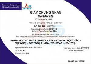 Đào tạo Kỹ năng MC - Dẫn chương trình - Hoạt náo du lịch - Gala dinner - Gameshow