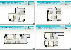 Bán căn hộ nghỉ dưỡng Vũng Tàu; 108m2,căn 3 phòng ngủ.